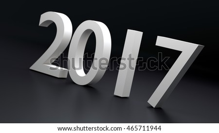 Happy holidays 2017 new year, 3d illustration 3D rendering