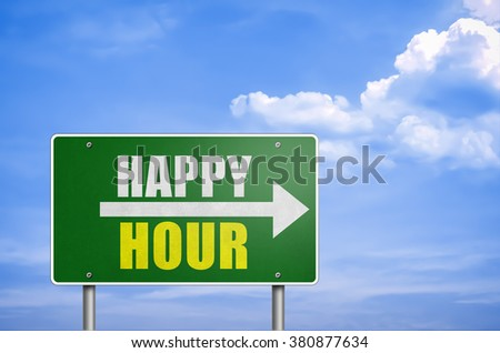 Happy Hour - road sign information
