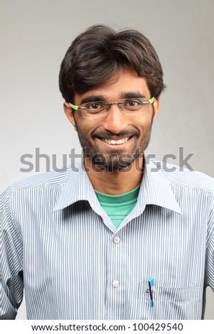 happy indian student - stock photo