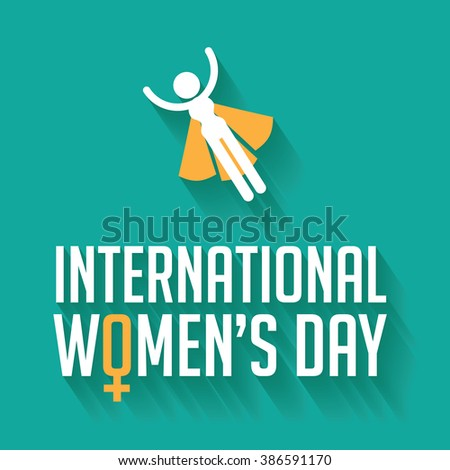 Happy International Women's Day celebration design.  - stock photo