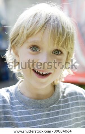 Happy kid smiling. Positive concept. - stock photo