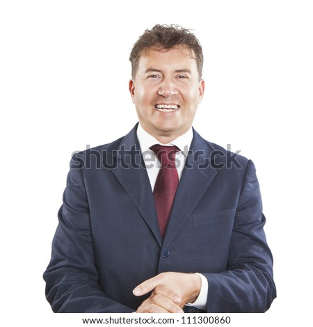 happy laughing businessman - stock photo