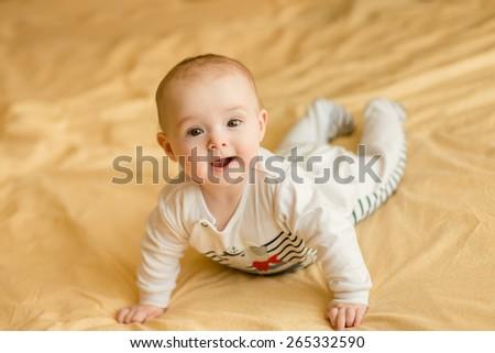 happy little baby - stock photo