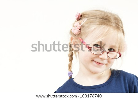 Happy Little blond girl - stock photo