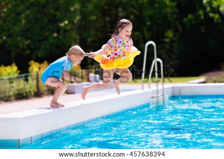 Pool Jump Stock Images Royalty Free Images Vectors