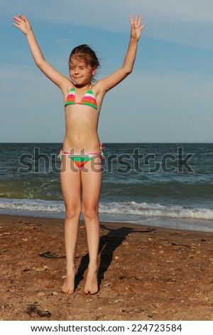 Little Girl Swimsuit Stock Images Royalty Free Images