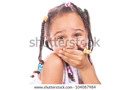 Happy little girl smiling - stock photo