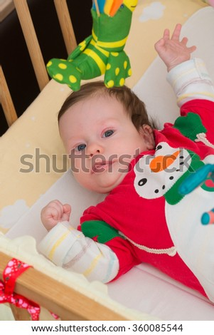 Happy little kid - stock photo