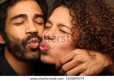 Happy love couple - stock photo