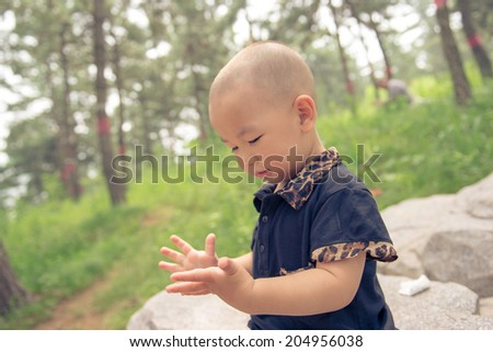 happy lovely baby - stock photo