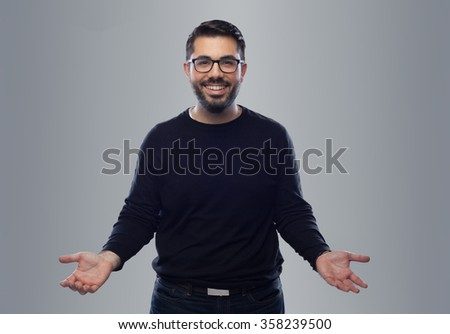 happy male business man professional with the smile - stock photo