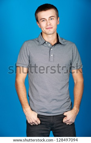 happy  man - stock photo