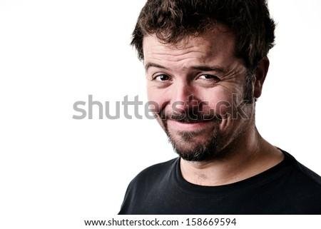 Happy Man portrait - stock photo