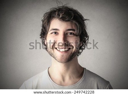 Happy man smiling  - stock photo