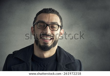 Happy man smiling  - stock photo