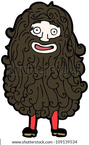 cartoon hairy old man