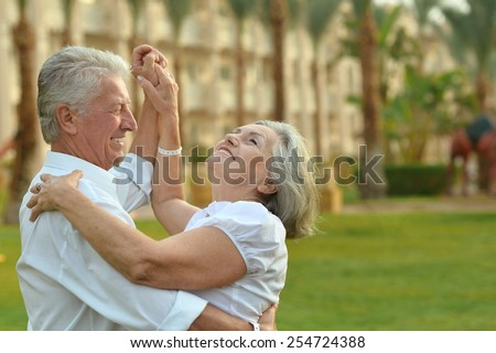 Happy Mature couple in love enjoy vacation - stock photo