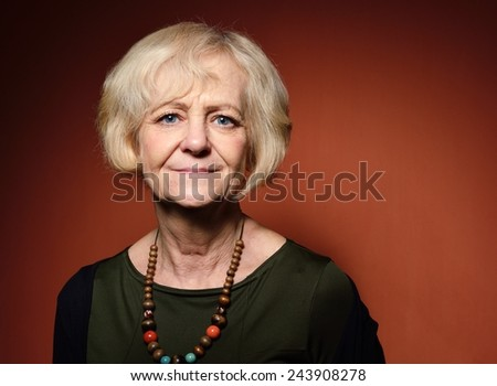 Happy mature woman. - stock photo