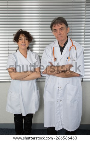 Happy medical team of doctors