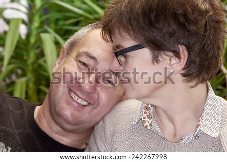 Happy middle aged couple - stock photo