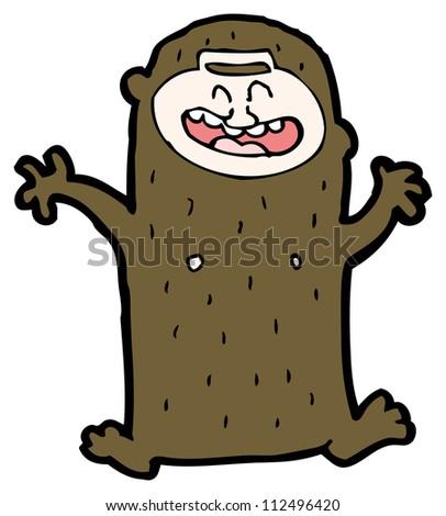 happy monkey cartoon - stock photo