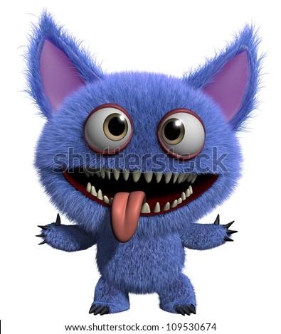 happy monster - stock photo