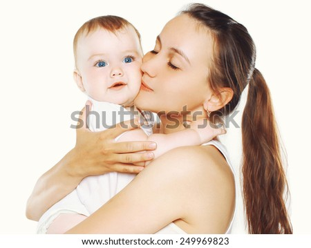 Happy mother and baby together