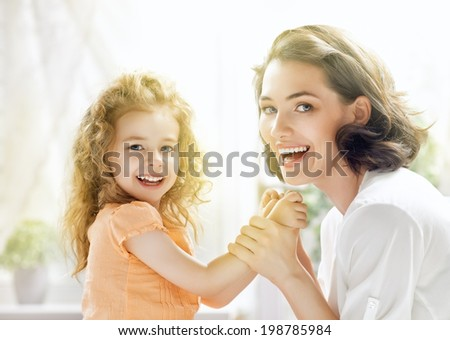happy mother and child together - stock photo