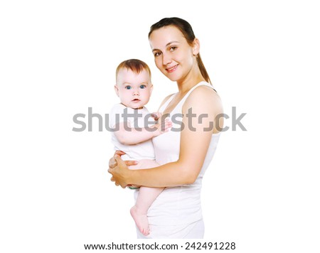 Happy mother and her baby - stock photo