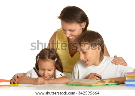Kids doing homework pictures