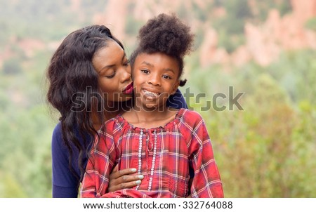 Happy Mother Kiss Child