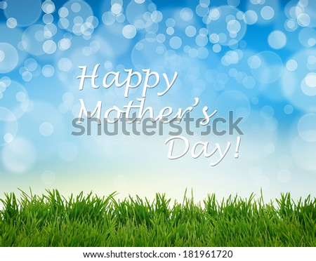 Happy Mother's Day Greeting Card - stock photo