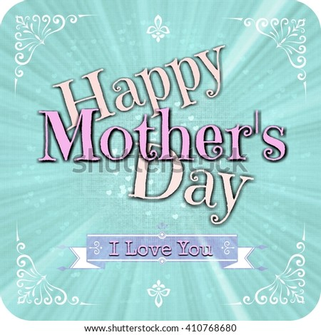 Happy Mothers day greeting card  - stock photo