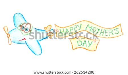 Happy Mothers Day message written on paper close up - stock photo