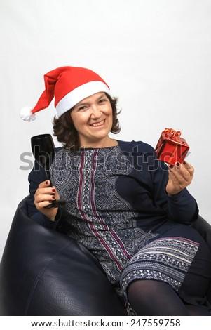Happy Mrs. Claus - stock photo
