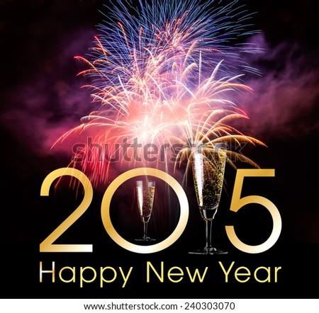 Happy New Year 2015 - stock photo