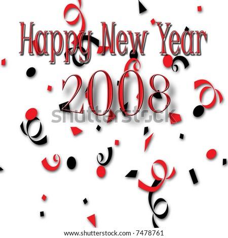 Happy New Year 2008 - stock photo