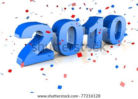 Happy New Year 2010 - stock photo