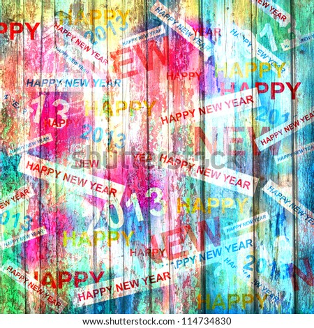 Happy new year abstract background - stock photo
