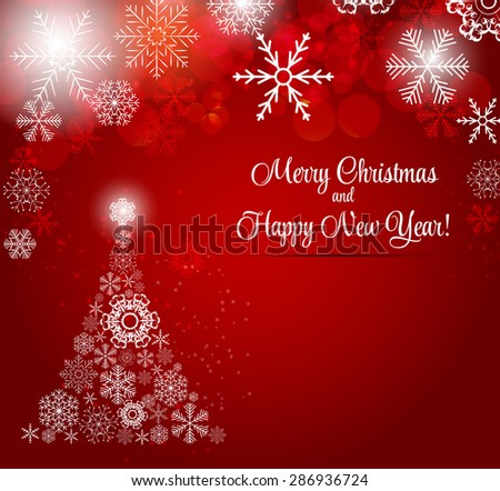 Happy New Year and Marry Christmas Background. - stock photo