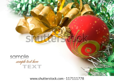 Happy New Year and Merry Christmas - stock photo