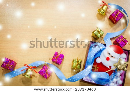Happy new year and merry christmas background. - stock photo