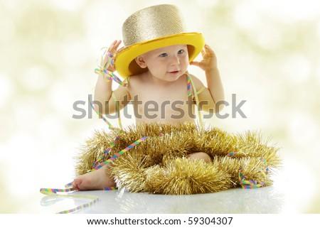 Happy New Year Baby - stock photo