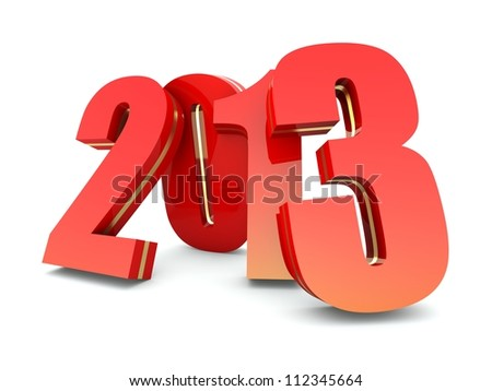 Happy New Year 2013 calendar background - stock photo
