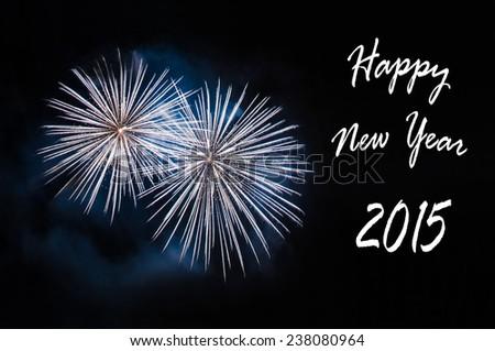 Happy New Year 2015 card - stock photo