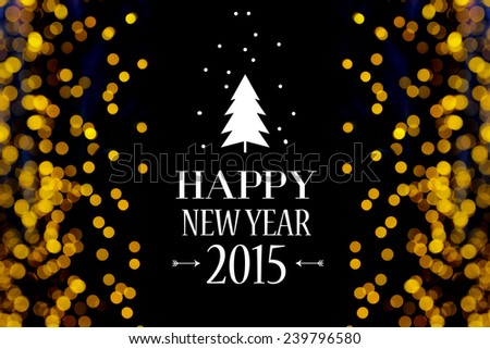 Happy new year card for New year festival.  - stock photo