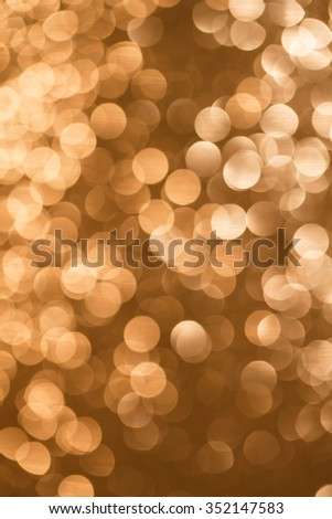 happy new year celebration background, gold background, abstract golden bokeh light