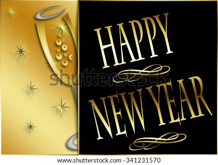 Happy New Year celebration concept. - stock photo