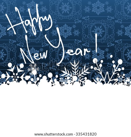 Happy New Year, Christmas card, New Year, Christmas decorations, New Year's Day, Day, New Year Eve, New Year greetings, Happy New Year wallpaper, Blue - stock photo