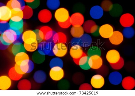 Happy New Year colored blur lights - stock photo